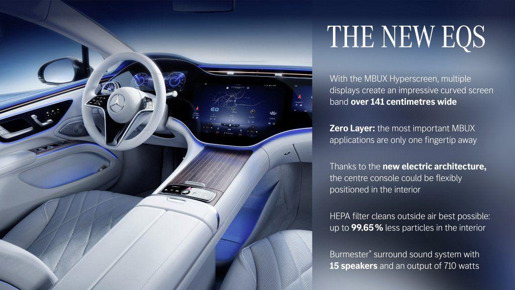 «Nuestro Mercedes-Benz EQS es el fundador de una generación completamente nueva y revolucionaria de automóviles de lujo. Sobre la base de nuestro estilo