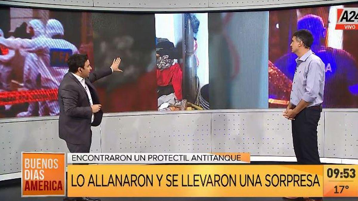 La Plata: detienen a un delincuente con una muy curiosa arma (Captura de Tv)