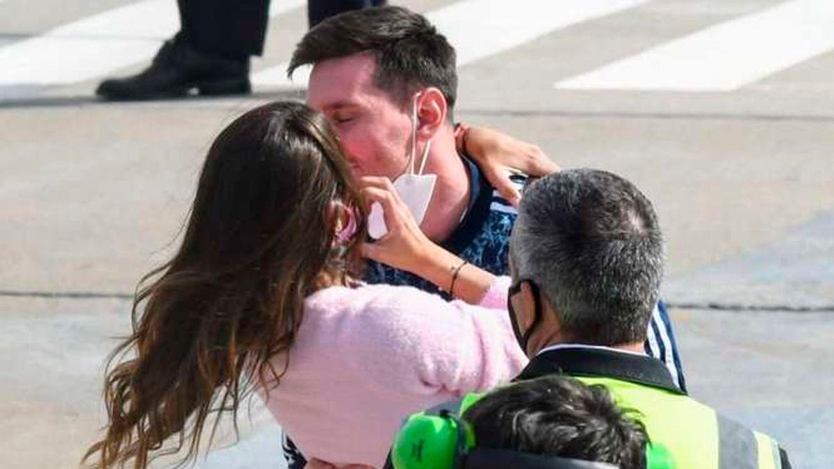En las redes: Lionel Messi se mostró entrenando con Antonela Roccuzzo