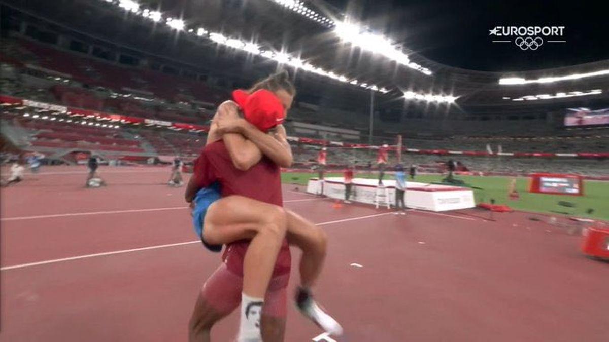 Gianmarco Tamberi y Mutaz Essa Barshim compartieron la medalla de oro en los Juegos Olímpicos 2020