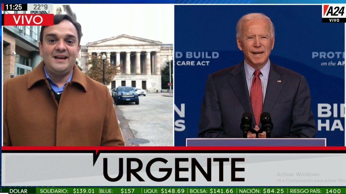 Por su ventaja en Georgia y Pensilvania, la prensa estadounidense ya habla del triunfo de Biden