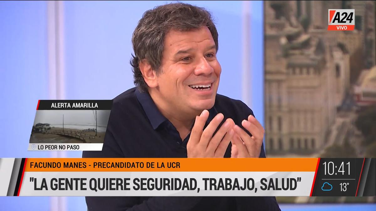 Facundo Manes: En Capital te roban mucho y poco (Foto: captura de TV).