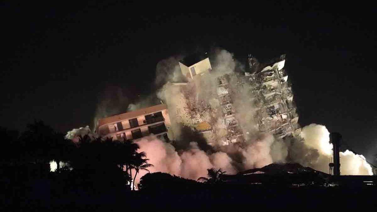 Miami: dan por terminada la búsqueda de sobrevivientes en el edifico colapsado