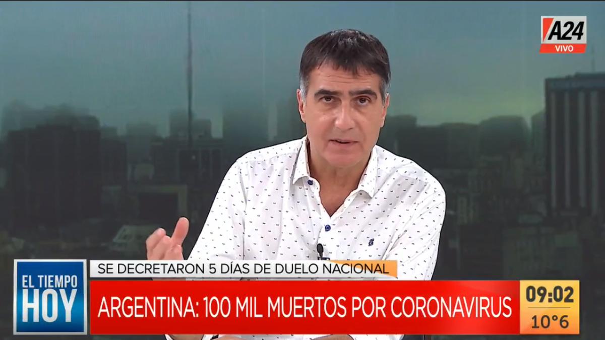 Antonio Laje pidió en su editorial a la dirigencia política que marque cuál es el rumbo del país ante la cifra de 100.000 muertos por coronavirus.