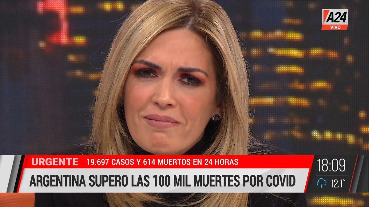 Viviana Canosa se emocionó al recordar los 100.000 muertos por Covid-19.