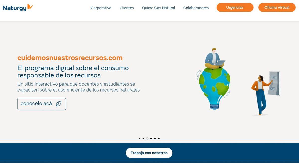 Naturgy estrena su nuevo sitio web como parte de un proceso de modernización.