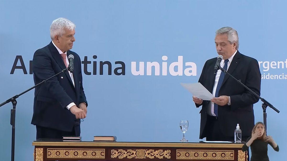 El lunes, Julián Domínguez había jurado como ministro del área.