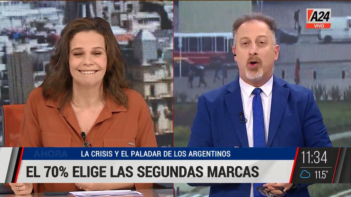El rebusque argentino: el 70% compra segundas marcas. (Captura de Tv)