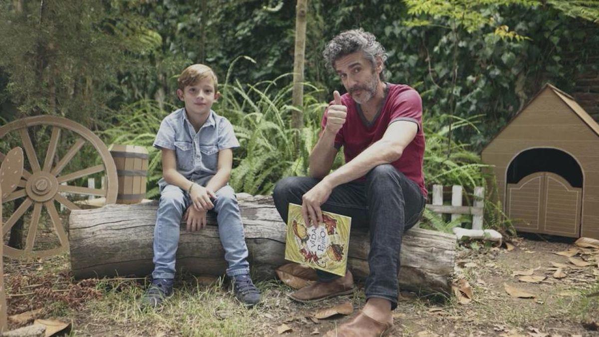 Leonardo Sbaraglia es uno de los actores que lee cuentos infantiles en el programa Foquito