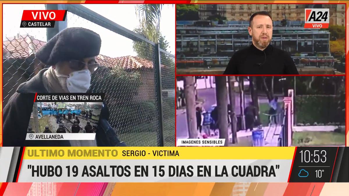 Castelar: la víctima contó la crónica del calvario que vivieron. (Captura de Tv)