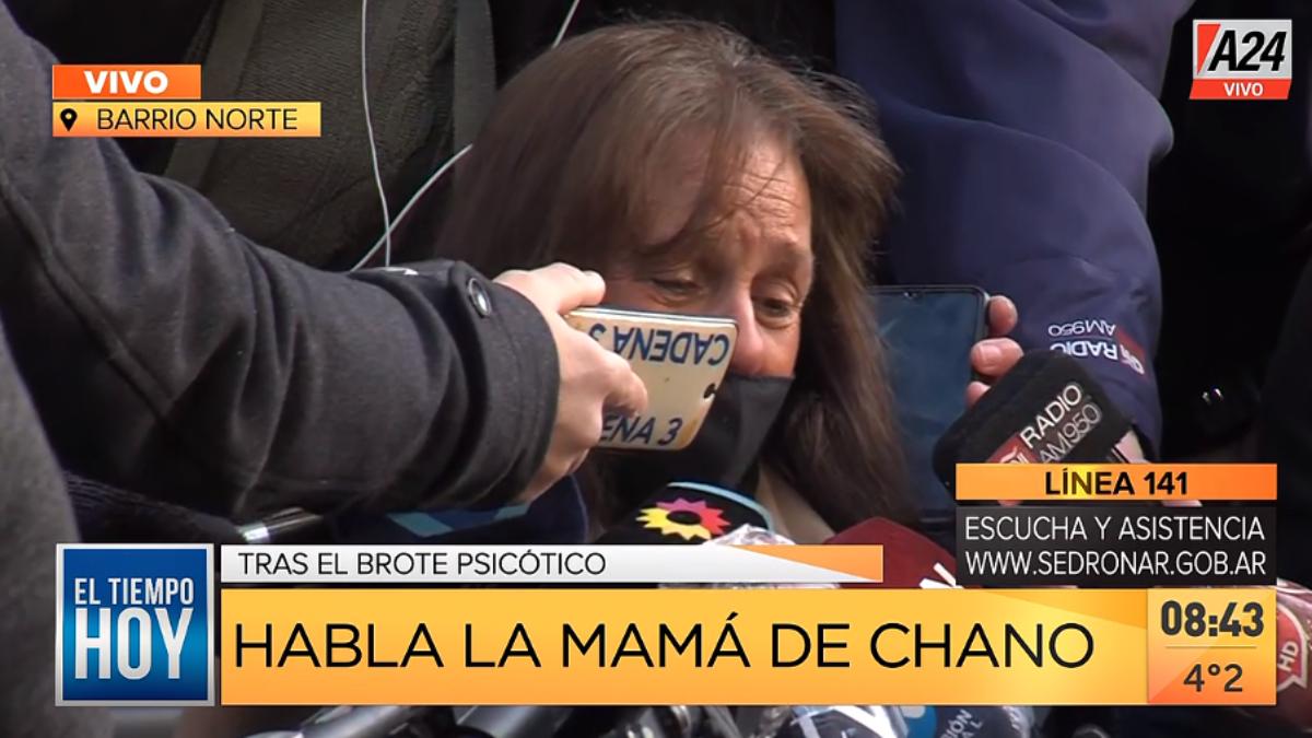 Marina Charpentier hizo declaraciones a la prensa sobre la salud de su hijo