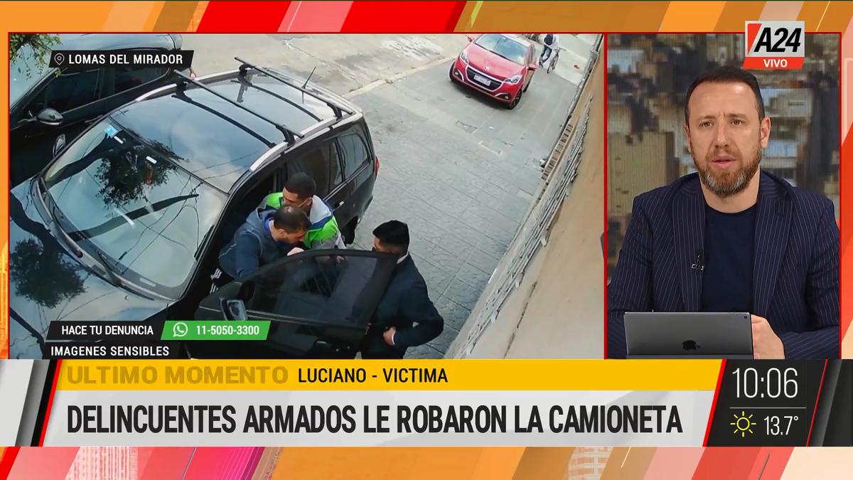 Así le roban el auto a un hombre en Lomas del Mirador. (Captura de Tv)