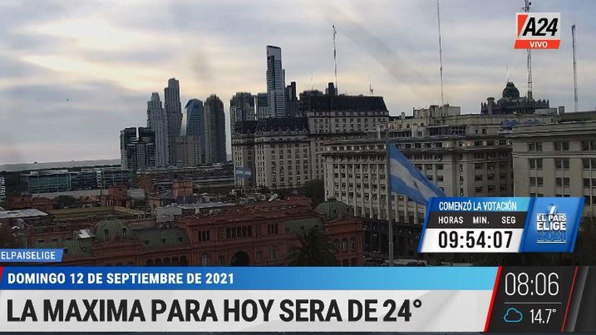 PASO 2021: ¿cómo va a estar el clima a la hora de votar? (Captura de Tv)