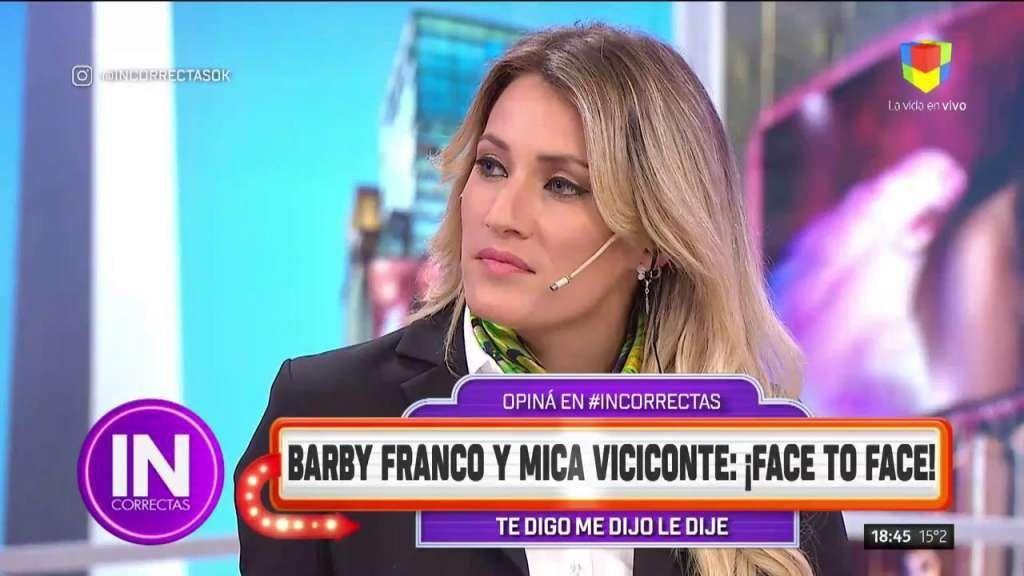 Fuerte cruce entre Mica Viciconte y Barby Franco: Estás haciendo el papel de ridícula