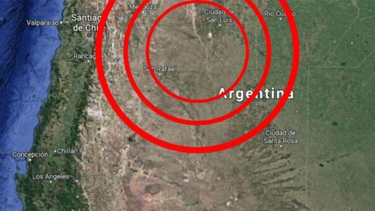 Esta noche se reportaron sismos en Mendoza y San Juan.