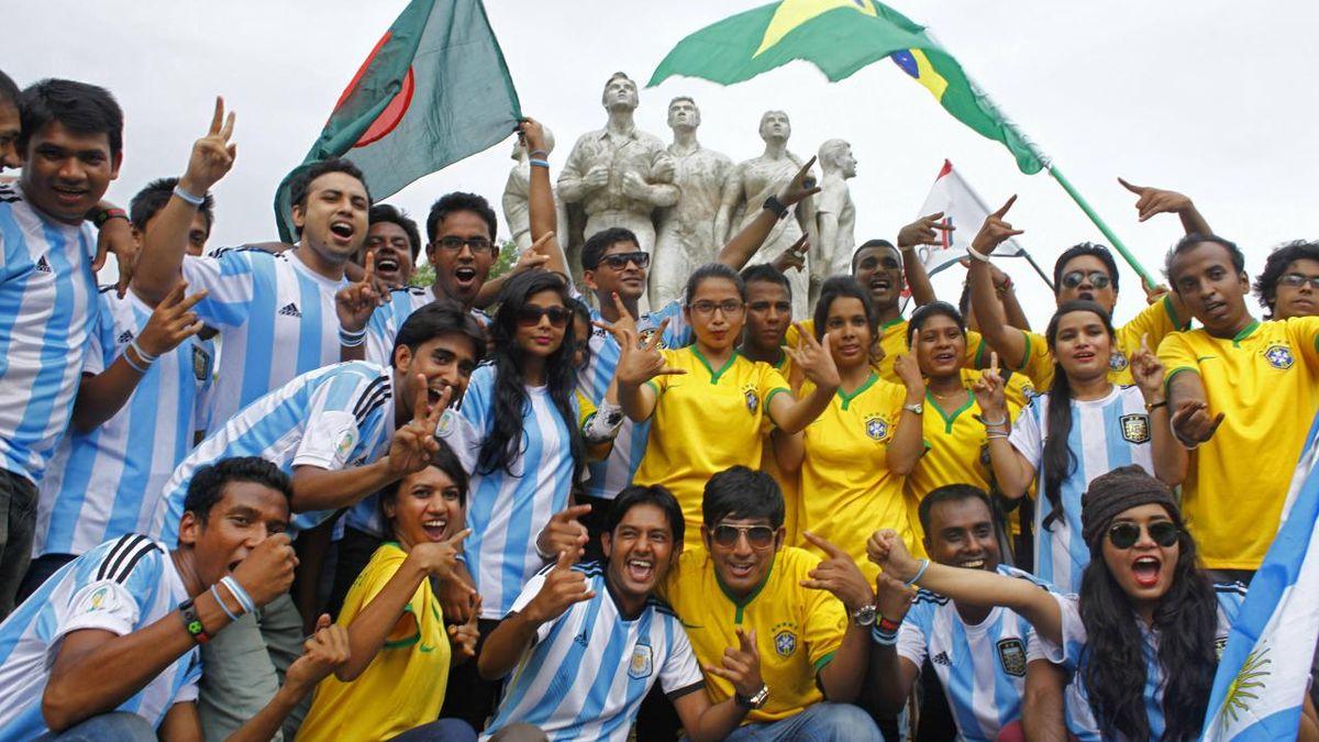 Argentina y Brasil tienen muchos hinchas en Bangladesh y preocupan posibles enfrentamientos tras la final de la Copa América.