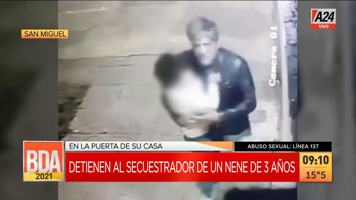 San Miguel: detienen a secuestrador y abusador de un nene de 3 años. (Captura de Tv)