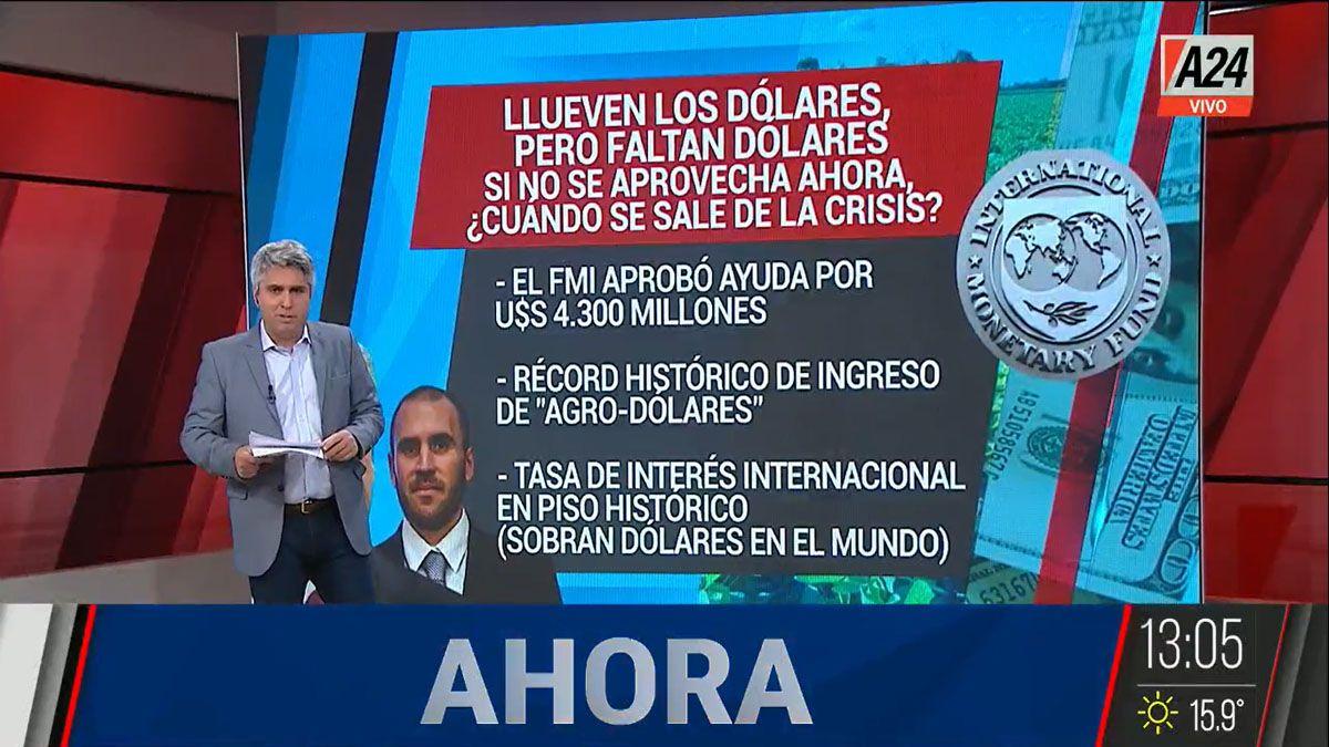 Los problemas de la economía argentina para aprovechar un escenario favorable (Foto: Captura de TV)
