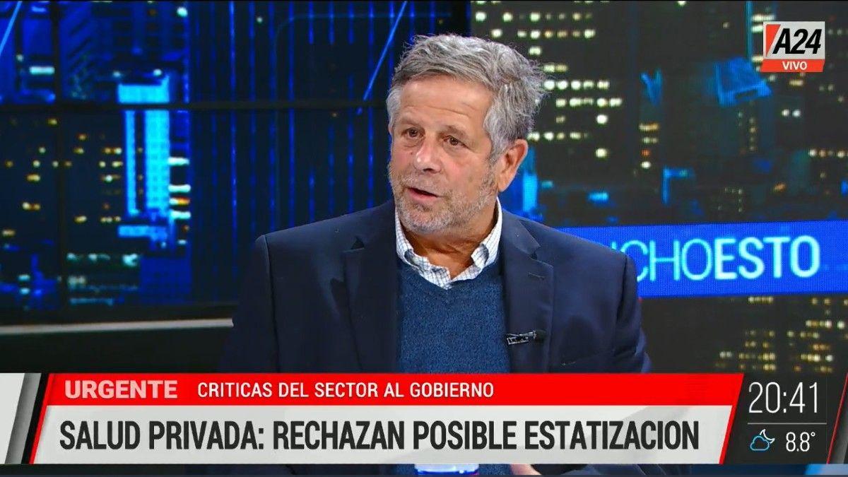 Adolfo Rubinstein: Las clínicas y sanatorios están en la lona