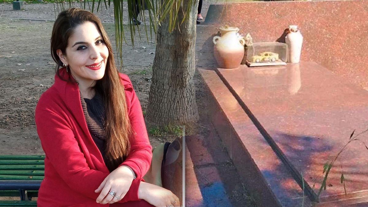 Antonella Menem mostró la tumba de su padre e hizo una fuerte denuncia