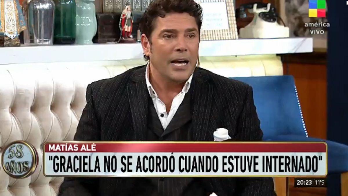 Matías Alé a Graciela Alfano: No se acordó cuando...