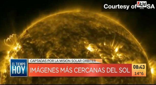 La misión Solar Orbiter difundió imágenes inéditas desde el espacio del Sol