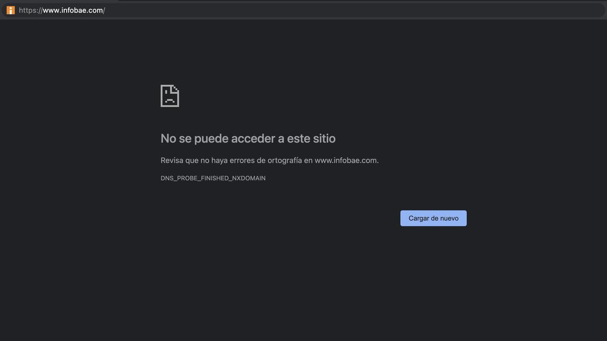 Infobae fue uno de los sitios caídos.. Amazon Web Services negó que sea por sus servicios.