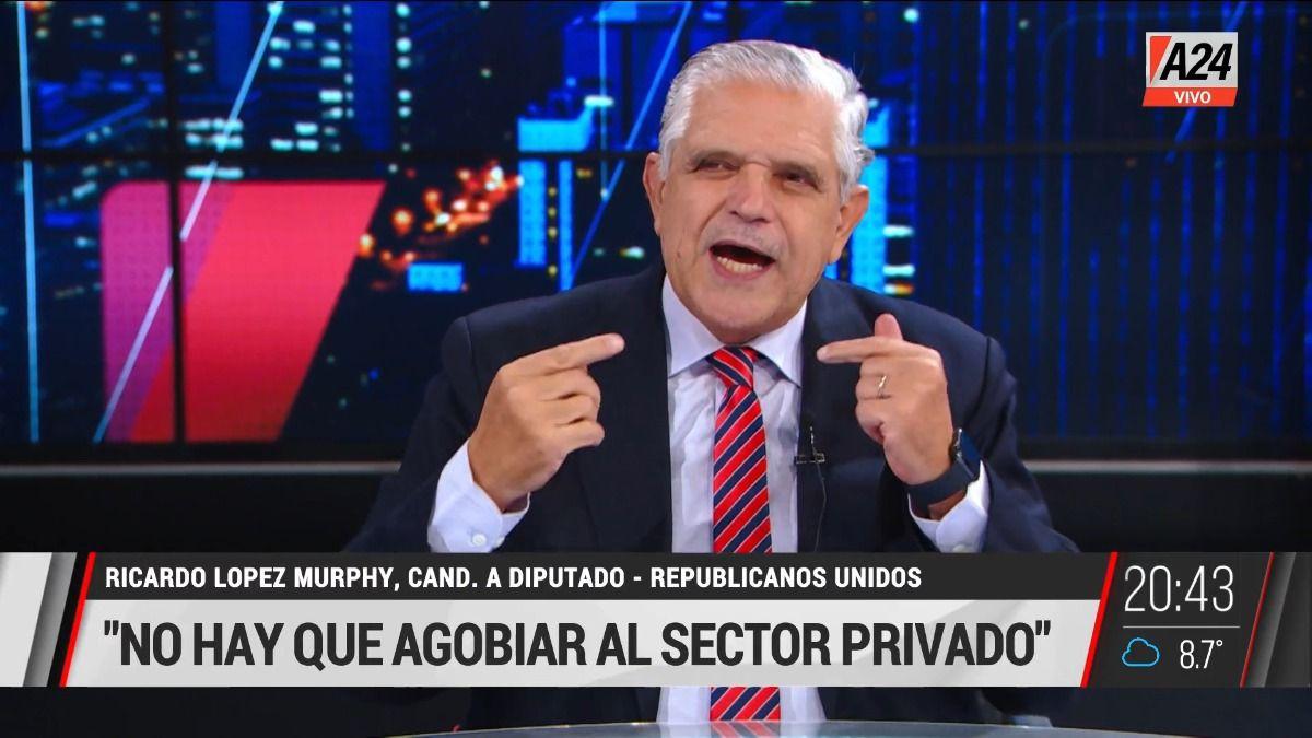 El exministro Ricardo López Murphy.