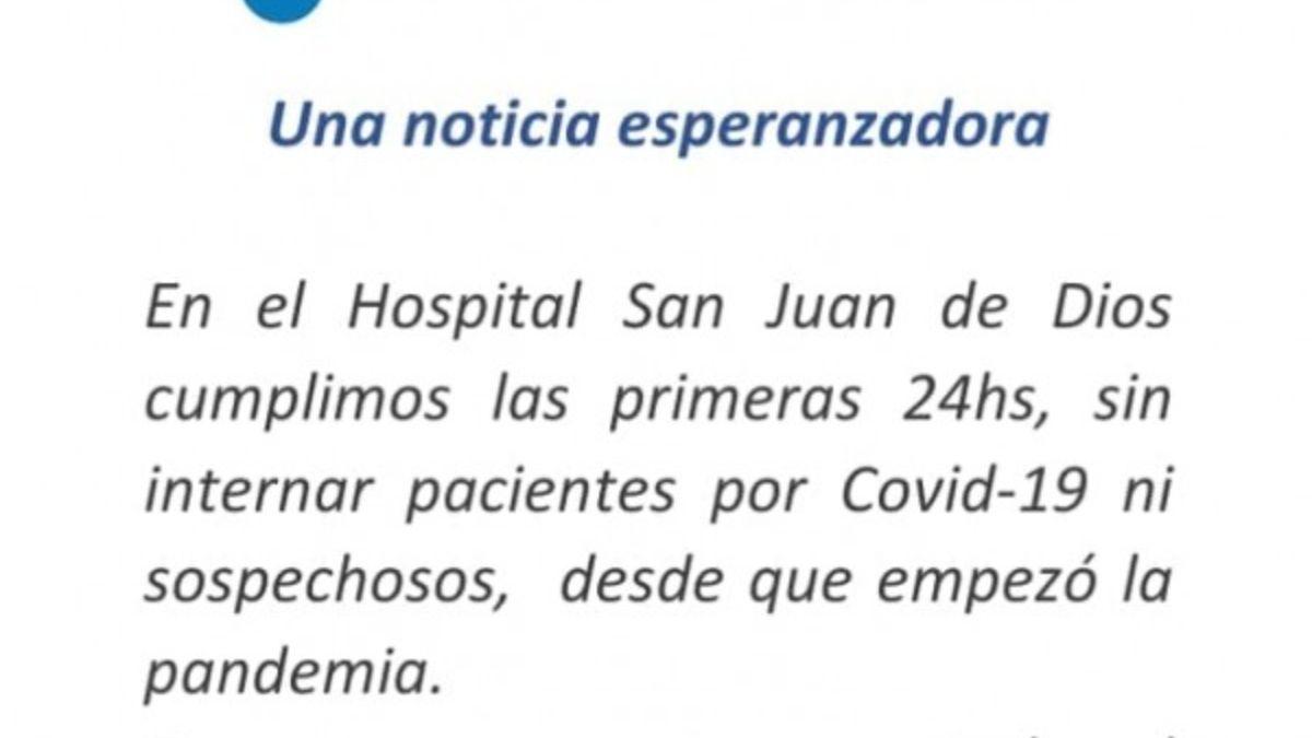 Un hospital de La Plata no tuvo internaciones por Covid-19