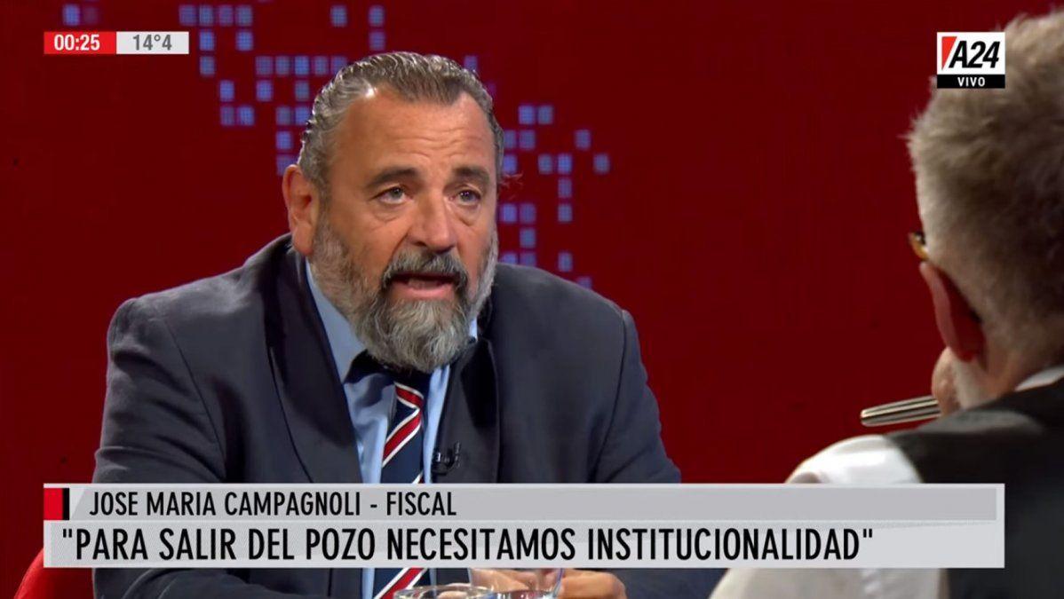José María Campagnoli: Creo que el kirchnerismo fue el 'roban, pero no sé si hacen
