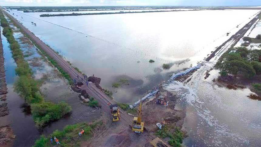 Inundaciones: ríos desbordados y muchos ciudadanos evacuados en el norte del país
