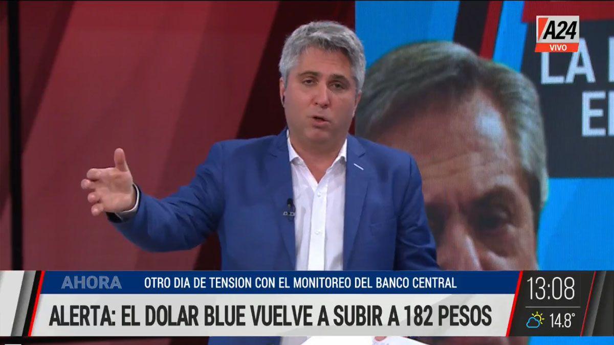 Por segundo día consecutivo el dólar blue se mueve hacia arriba (Foto: Captura de TV)