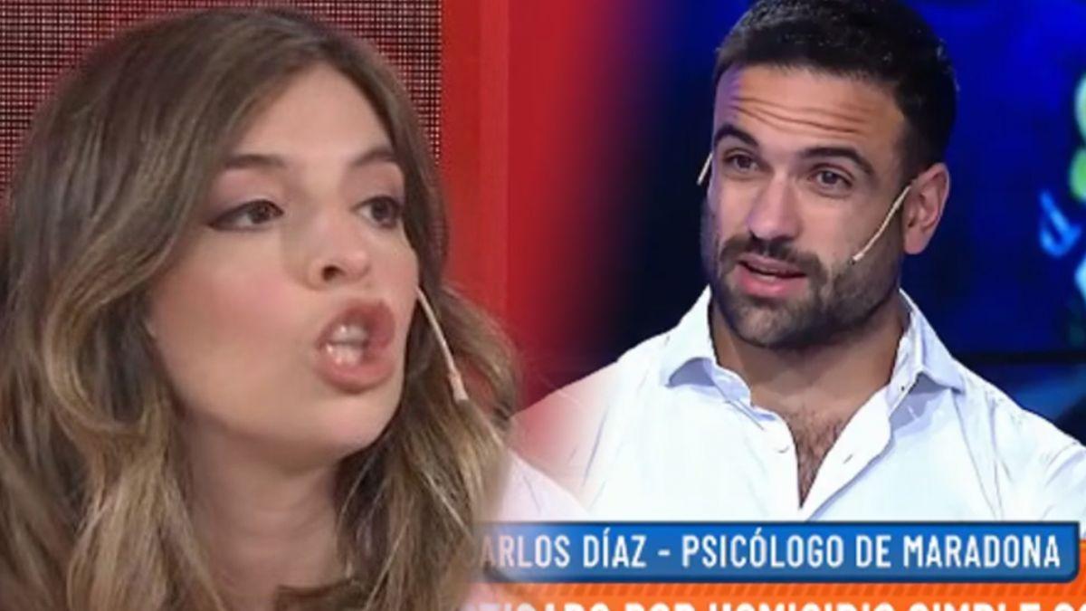 Dalma Maradona, en llamas contra el psicólogo de su padre, Carlos Díaz
