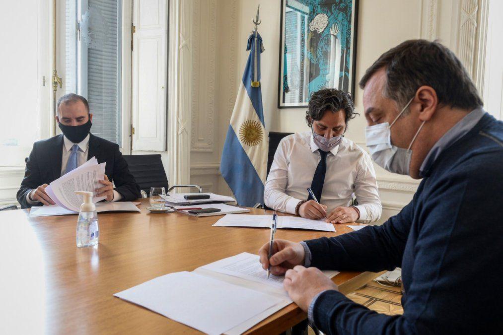 Cafiero y Guzmán impulsan la construcción de parques industriales en predios del Estado, con financiamiento de la CNV