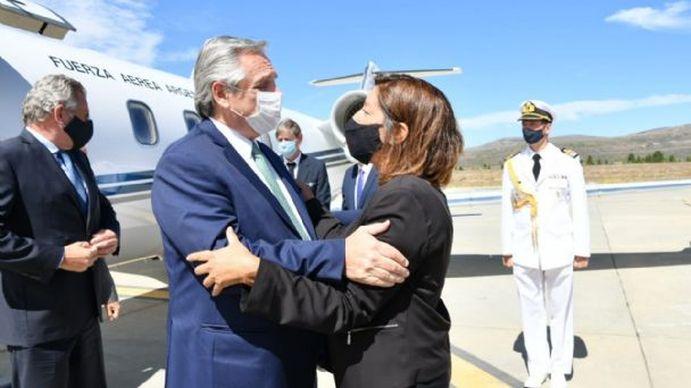 Alberto Fernández llamó a Arabela Carreras para dialogar sobre el conflicto mapuche en Río Negro