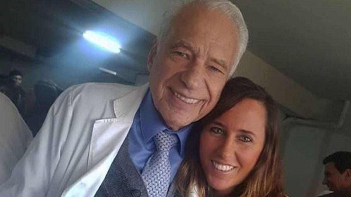 Alberto Cormillot y Estefanía Pasquini mostraron la carita de Emilio