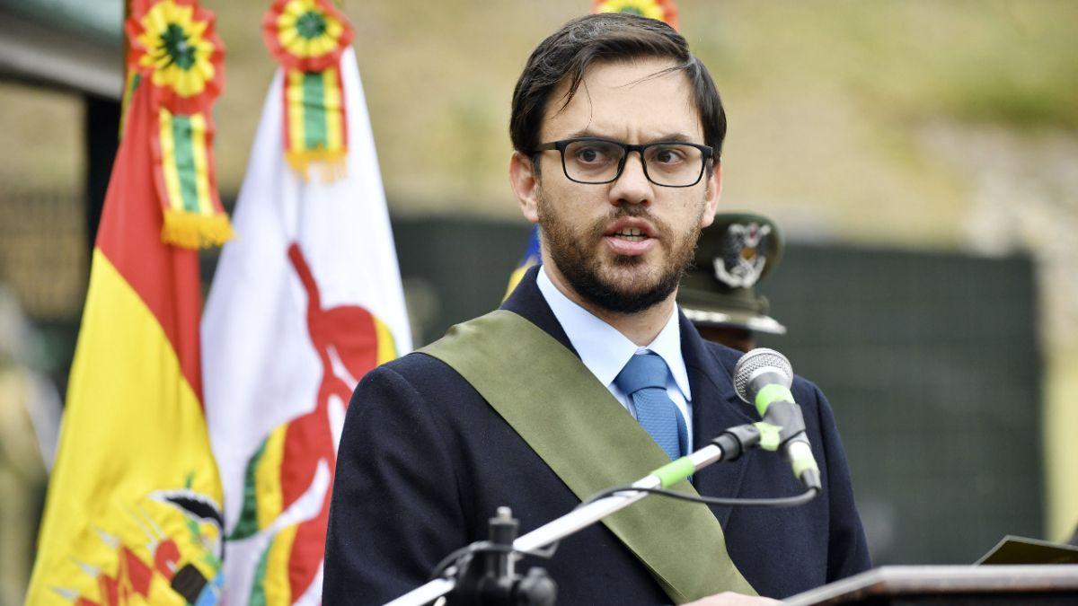 El ministro de Gobierno boliviano