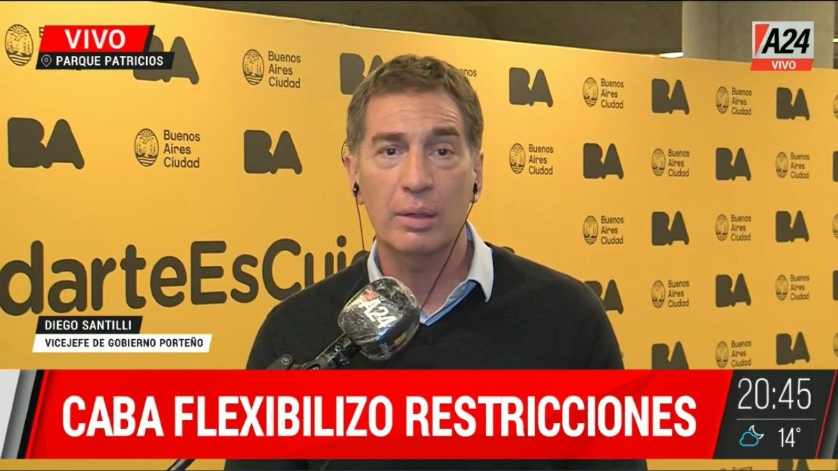 Diego Santilli: Si llegan las vacunas