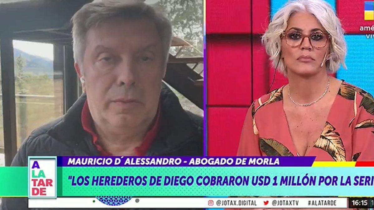 Picante cruce entre Débora DAmato y Mauricio DAlessandro