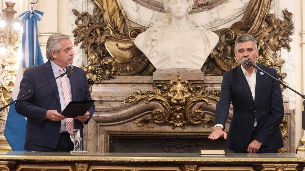 Presidente Alberto Fernández y ministro de Desarrollo Social