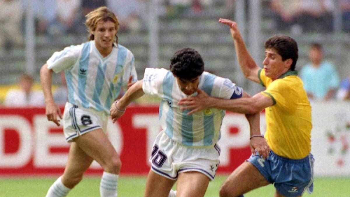 Maradona y su día glorioso en Italia 90.