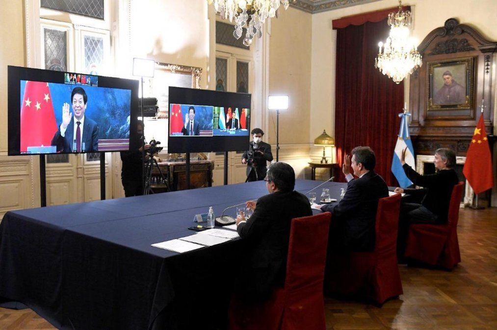Autoridades del Parlamento chino respaldaron a la Argentina en su negociación por la deuda con el FMI