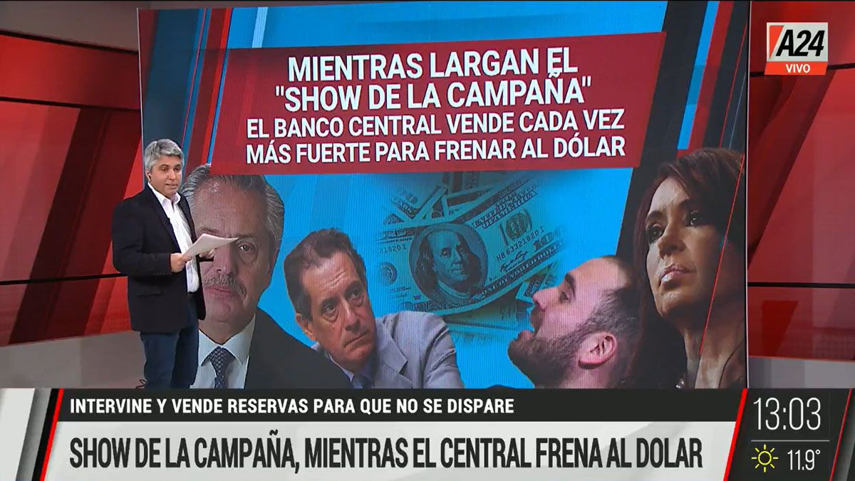 El Banco Central tiene que vender dólares para mantener que la divisa no se dispare e impacte en la inflación (Foto: Captura de TV)