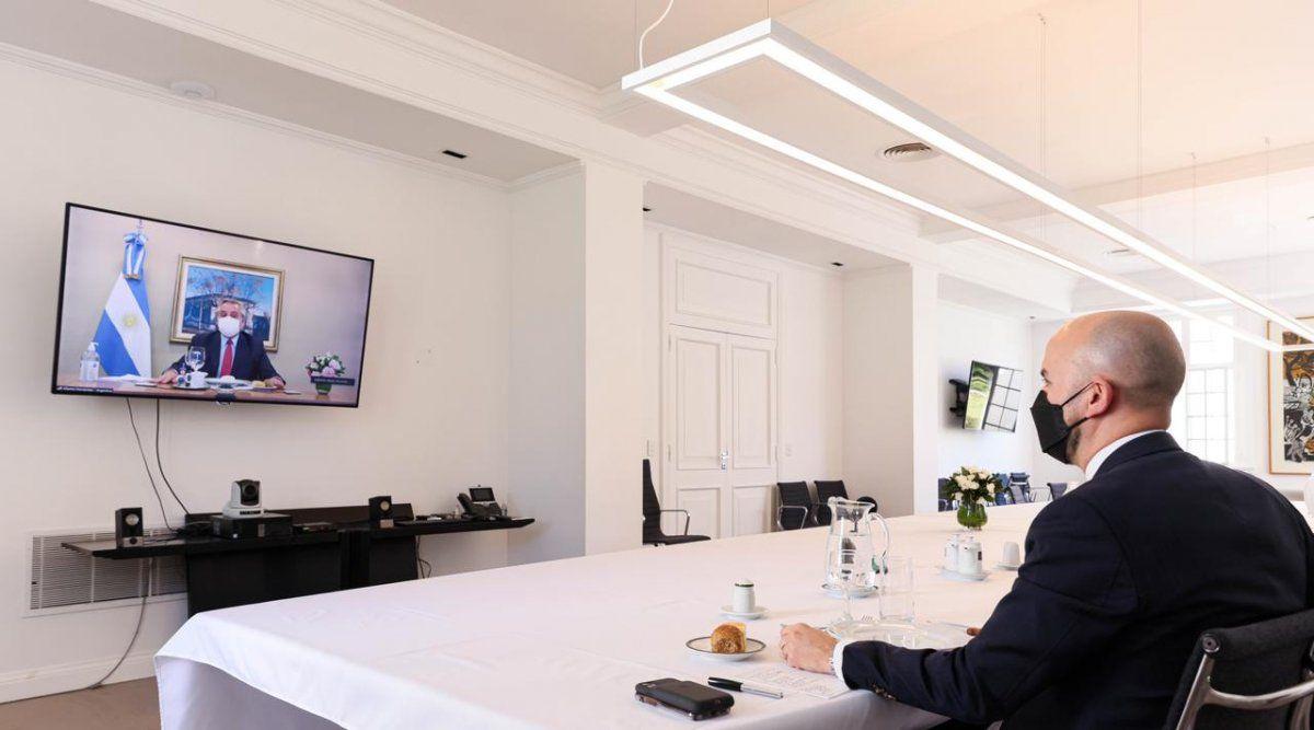 Alberto se reunió por zoom con el enviado de Biden a Argentina: Relaciones bilaterales