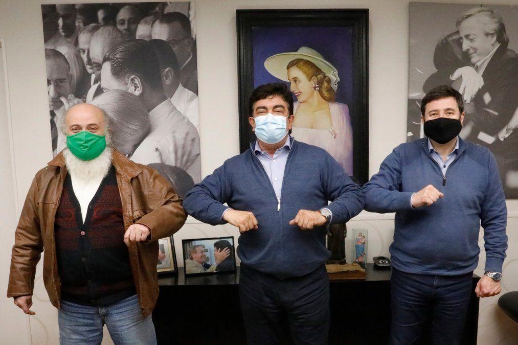 Pérsico, junto al intendente de La Matanza, Fernando Espinoza, y el ministro Daniel Arroyo. (Foto: archivo)