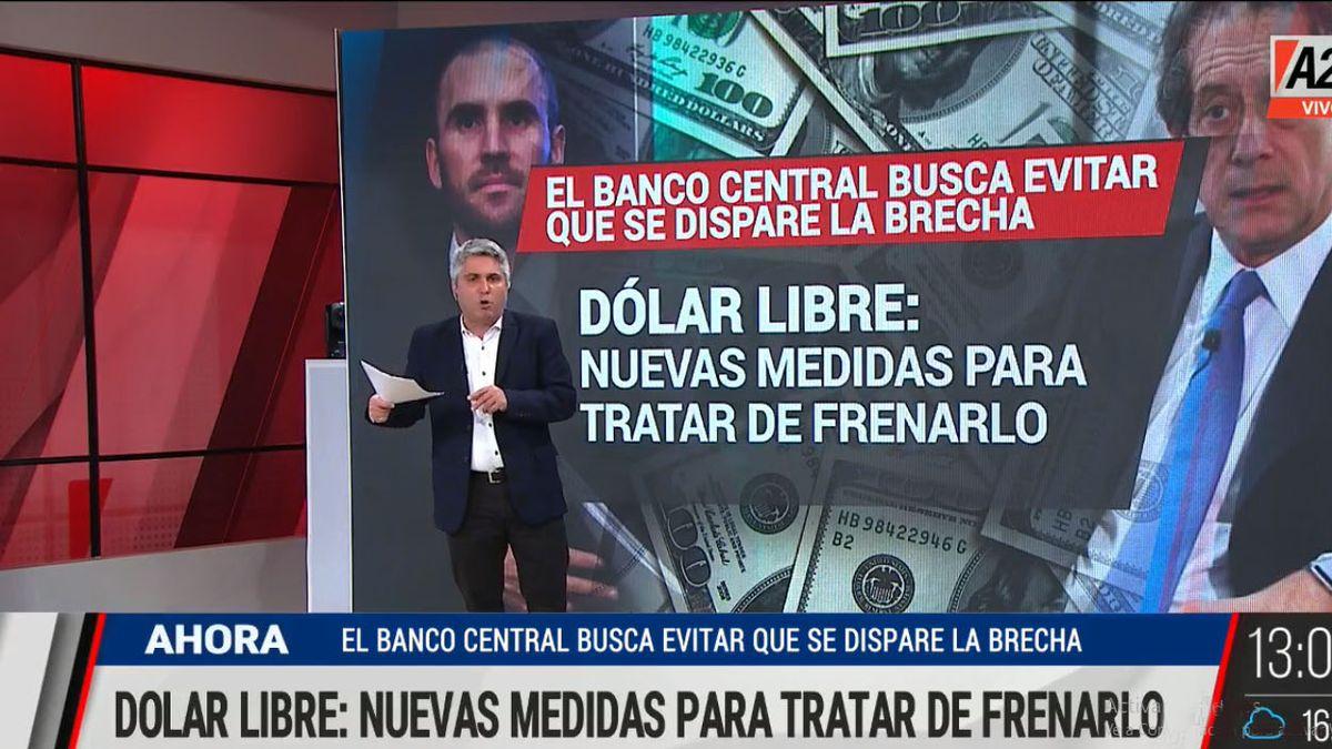El BCRA interviene en el dólar MEP y en el Contado Con Liqui para evitar que se dispare el blue (Foto: Captura de TV)