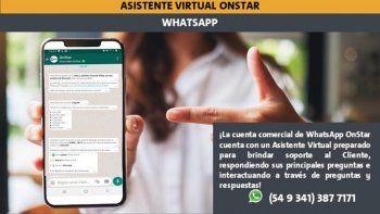 Chevrolet incorpora Asistente Virtual OnStar en WhatsApp