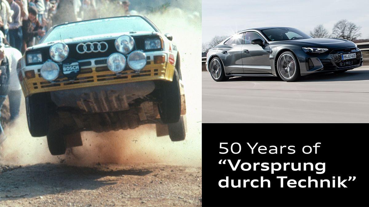Audi cumple 50 años A la vanguardia de la Técnica. El eslogan fue creado por Hans Bauer