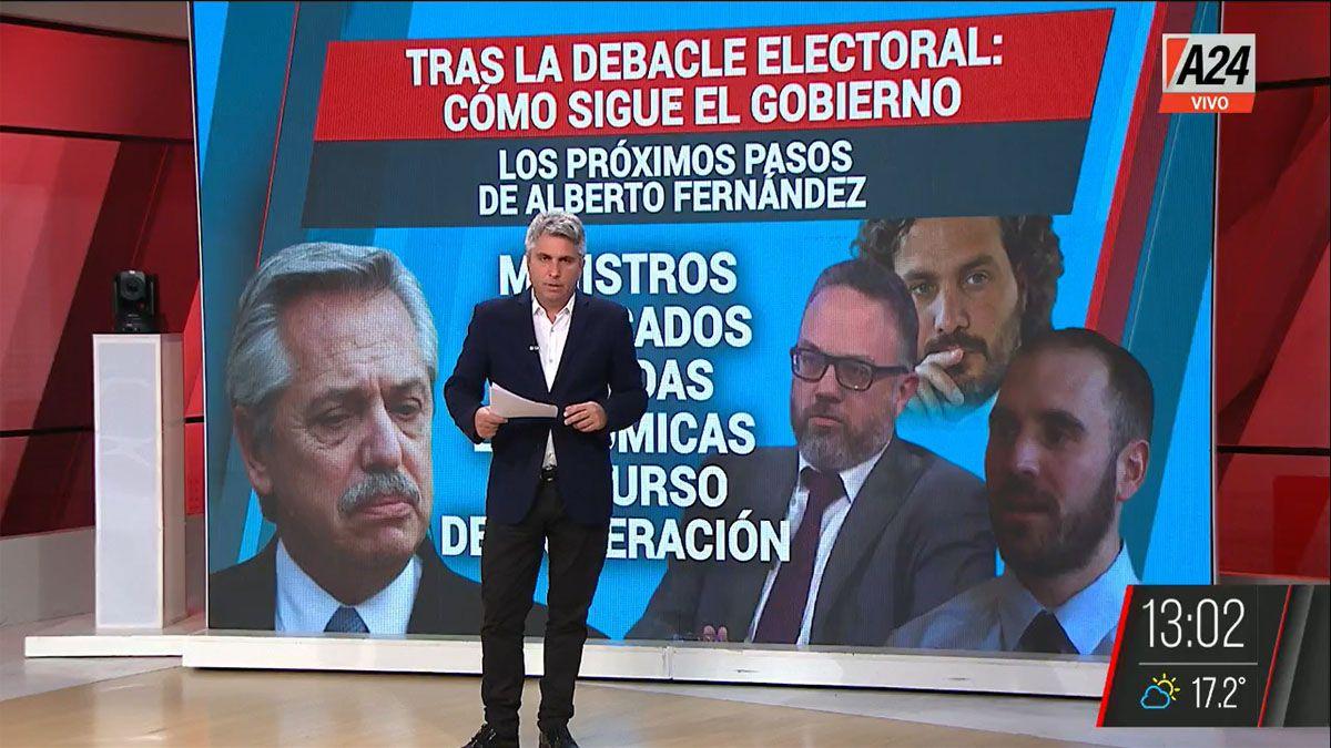 El gobierno de Alberto Fernández enfrenta a las críticas internas del kirchnerismo (Foto: Captura de TV)