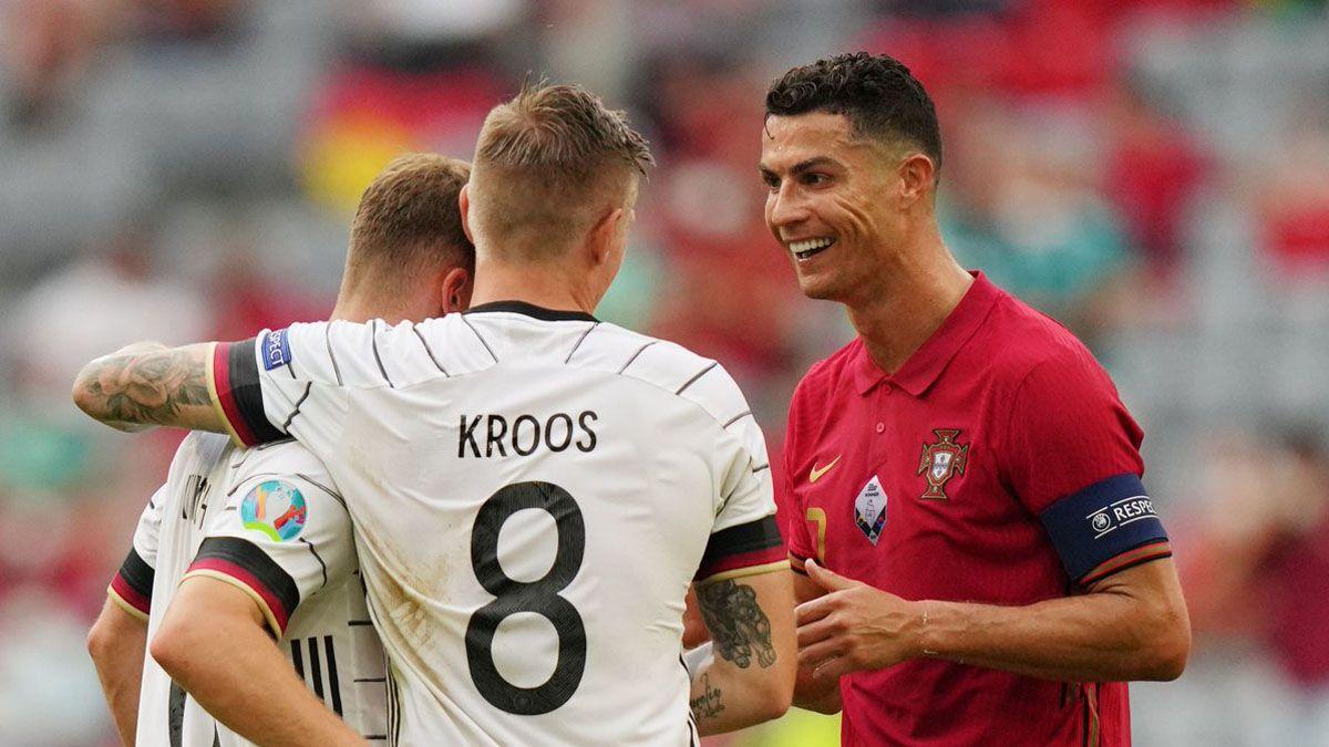 Cristiano Ronaldo y Toni Kroos recordaron tiempos felices en Real Madrid tras el partido.